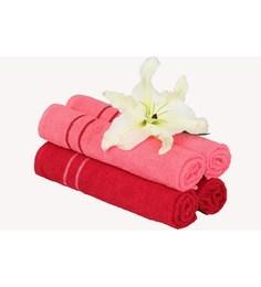 Mark Home Multicolour Cotton 24 X 16 Hand Towel - Set Of 4 - 1590653