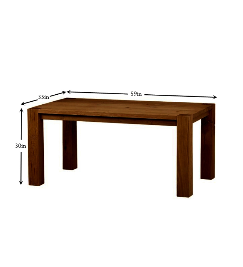 Basil Mango Wood Dining Table by Mudra Online Dining  : Mango Wood Dining Table 81012 13542710571WLUXb from pepperfry.com size 800 x 880 jpeg 89kB