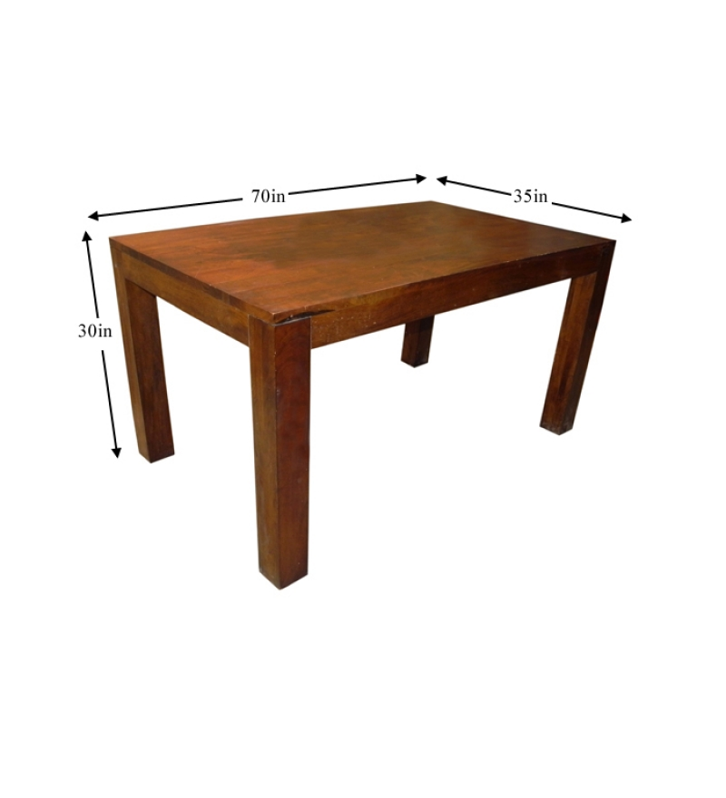 Basil mango wood honey dining table by mudra online for Mango wood dining table