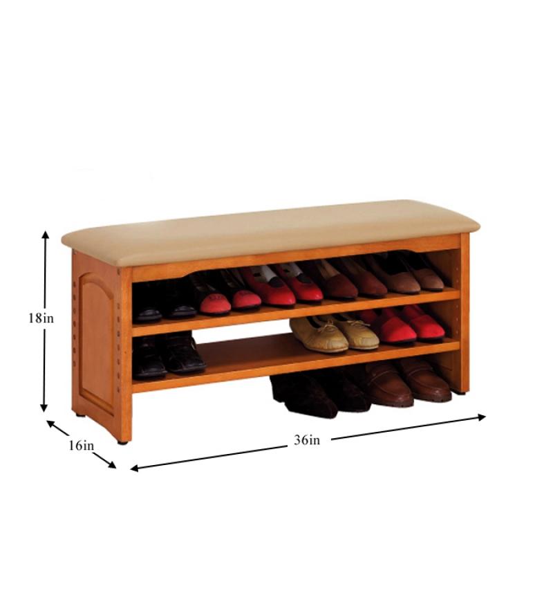 Mango Wood Shoe Rack by Mudramark Online - Solid Wood ...