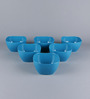 Machi Blue Melamine 900 ML Small Serving Bowl - Set of 6