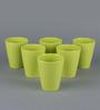 Machi Green Melamine 300 ML Round Tumbler - Set of 6