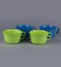Machi Multicolour Melamine 550 ML Soup Bowl - Set of 4