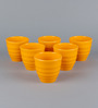 Machi Yellow Melamine 280 ML Tea Kullad Cups- Set of 6