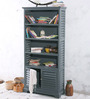 Macpherson Book Shelf Cum Display Unit in Slate Grey Finish by Amberville