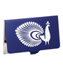 Mad(e) in India Peacock Stainless Steel Navy Blue Visiting Card Holder