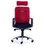 Maestro High Back Chair in Black & Red Colour by Durian