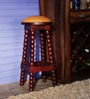Magdalen Bar Stool in Passion Mahogany Finish by Amberville