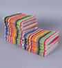 Magna Multicolour Cotton 11 x 12 Face Towel - Set of 15