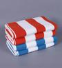 Magna Multicolour Cotton 29 x 57 Bath Towel - Set of 4