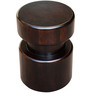 Maharani Round Stool in Warm Rich Finish by Inliving