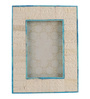 Maison Collection Ivory MDF 6 x 2 x 8 Inch Turq Lining Photo Frame