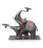 MALHAR Multicolour Metal Harry Elephant Tea Light Holder