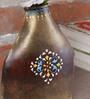 Malik Design Brown Metal Embossed Medium Pot