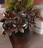 Malik Design Brown Metal Flower Small Pot
