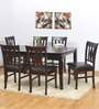Malmo Six Seater Dining Set in Brown Oak colour by @home