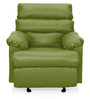 Manual Recliner with Glider in Light Green Colour by Comfort Couch