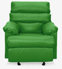 Manual Recliner with Glider in Parrot Green Colour by Comfort Couch