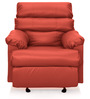 Manual Recliner with Glider in Red Colour by Comfort Couch