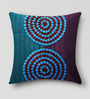 Mapa Home Care Blue & Purple Duppioni 16 x 16 Inch Textured Cushion Cover