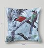 Mapa Home Care Blue Duppioni 16 x 16 Inch Birds Cushion Cover