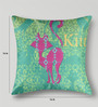 Mapa Home Care Green & Pink Duppioni 16 x 16 Inch Cushion Cover
