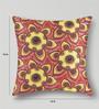 Mapa Home Care Pink & Yellow Duppioni 16 x 16 Inch Cushion Cover
