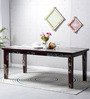 Clapton Six Seater Dining Table in Distress Finish by Bohemiana