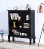 Margaret Book Shelf cum Display Unit in Espresso Walnut Finish by Amberville