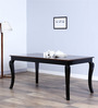 Margaret Six Seater Dining Table in Dual Tone Finish by Amberville