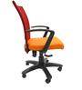 Marina Office Ergonomic Chair in Orange Colour by Chromecraft