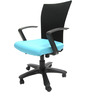 Marina Office Ergonomic Chair in Sky Blue Colour by Chromecraft
