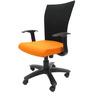 Marina WW Office Ergonomic Chair in Black & Orange Colour by Chromecraft