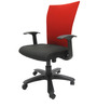 Marina WW Office Ergonomic Chair in Red & Black Colour by Chromecraft