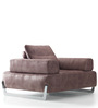 Marisela One Seater Sofa in Brown Colour by CasaCraft