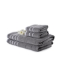 Mark Home Grey Cotton Bath and Hand Towel - Set of 4