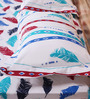Mark Home Feather Multicolour Cotton Abstract Bed Sheet (with Pillow Covers) - Set of 3