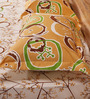 Mark Home Circles Brown Cotton Abstract Bed Sheet (with Pillow Covers) - Set of 3