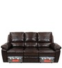 Marshall Three Seater Sofa with 2 Recliners in Russet Brown Colour by @home