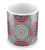 Marvel Civil War-Captain Logo Design Multicolour Ceramic 350 ML Mug