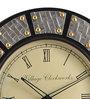 Marwar Stores Black MDF 18 Inch Round Wall Clock