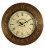 Marwar Stores Gold MDF 18 Inch Round Wall Clock