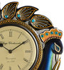 Marwar Stores Multicolour MDF 12 x 2 x 12 Inch Peacock Shaped Wall Clock