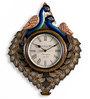 Marwar Stores Multicolour MDF 16 x 2 x 12 Inch Peacock Shaped Wall Clock