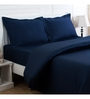 Maspar Blue 100% Cotton King Size Bed Sheet - Set of 3