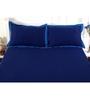 Maspar Navy Blue Cotton Solids 88 x 60 Inch Bed sheet