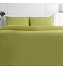 Maspar Green Cotton Solid 88 x 60 Inch Bed Sheet (with Pillow Cover)