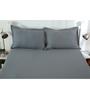 Maspar Gray Cotton Solids 108 x 108 Inch Bed sheet