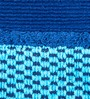 Maspar Optical Harmony Border Blue Cotton Bath Towel