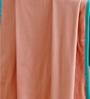 Maspar Peach Cotton Stripes and Checks 35 x 30 Inch Comforter
